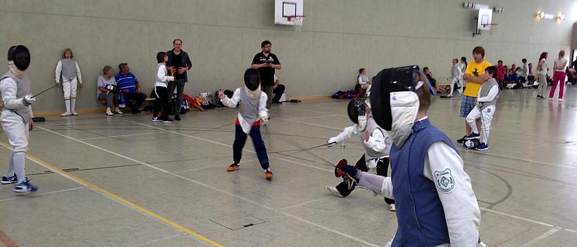 Mini-Olympics nach der Turnierreifeprüfung in Halle