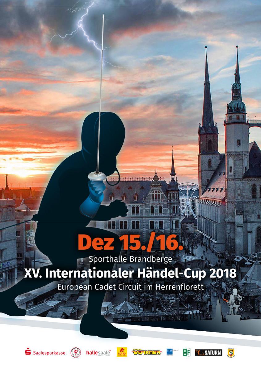Turnierplakat: XV. Internationaler Händel-Cup 2018