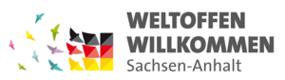 Logo: Weltoffen Willkommen, Sachsen-Anhalt